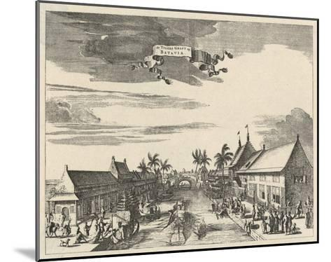 A View of Batavia also known as Djakarta--Mounted Giclee Print