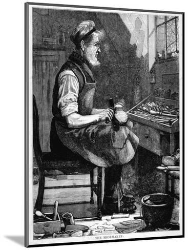 A Victorian Shoemaker in His Workshop--Mounted Giclee Print