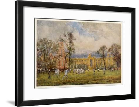 At Rugby School the Rugby Game as it Is Played at Rugby School--Framed Art Print