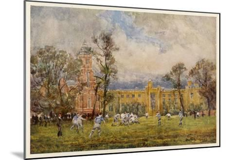 At Rugby School the Rugby Game as it Is Played at Rugby School--Mounted Giclee Print