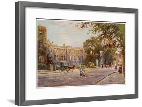 Cambridge: Addenbrooke's Hospital in Trumpington Street--Framed Art Print