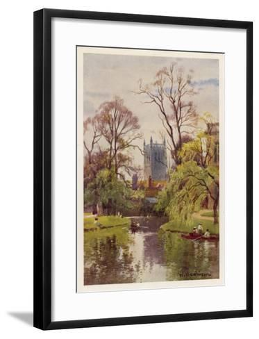 Cambridge: the Backs, with the Tower of St John's College in the Distance--Framed Art Print