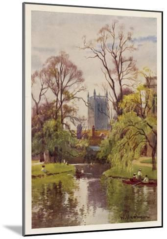 Cambridge: the Backs, with the Tower of St John's College in the Distance--Mounted Giclee Print