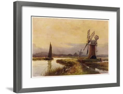Broads - Drainage Mills--Framed Art Print