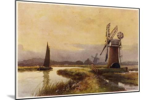 Broads - Drainage Mills--Mounted Giclee Print