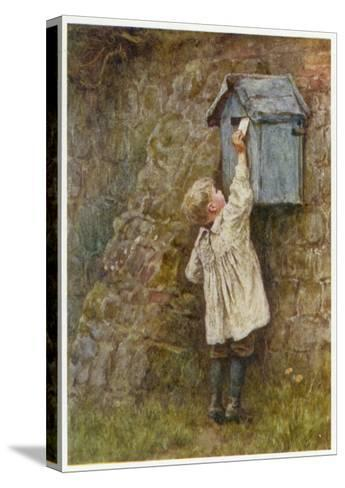 Boy Posting Letter 1887--Stretched Canvas Print