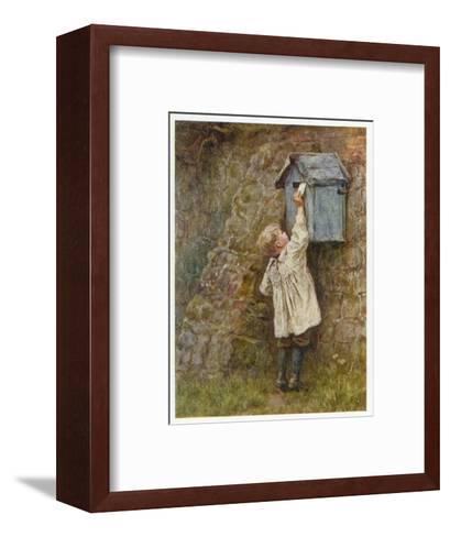 Boy Posting Letter 1887--Framed Art Print