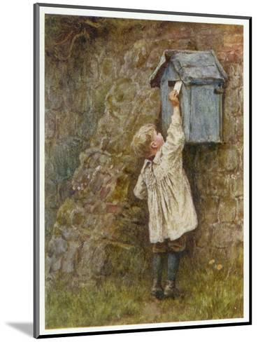 Boy Posting Letter 1887--Mounted Giclee Print