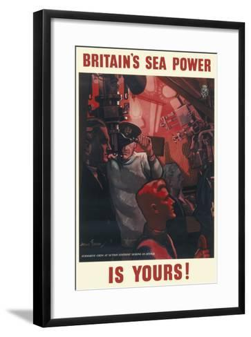 Britain's Sea Power Is Yours!--Framed Art Print