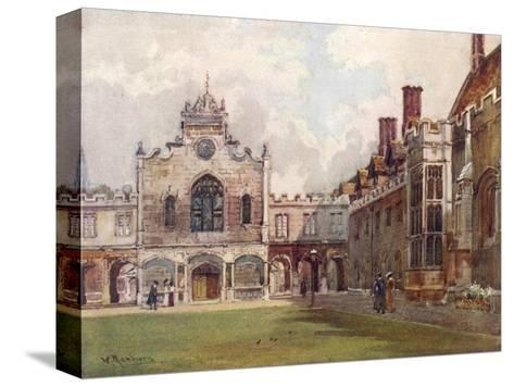 Cambridge: Peterhouse College First Court--Stretched Canvas Print