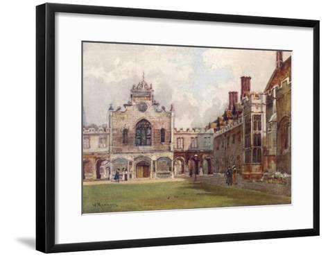 Cambridge: Peterhouse College First Court--Framed Art Print
