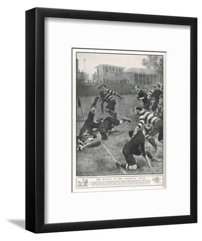 At Richmond, the Army Service Corps Beat the New Zealand All Blacks by 21-3--Framed Art Print