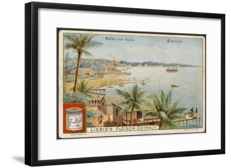 Apia Is the Capital and Principal Port of Western Samoa--Framed Art Print