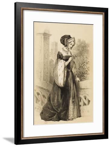 Anne Boleyn 2nd Queen of Henry VIII from 1533 - 1536--Framed Art Print