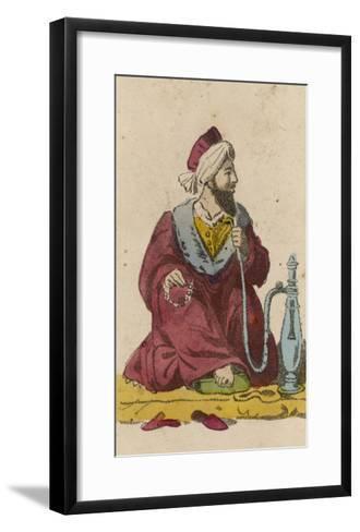 Arab and Hookah--Framed Art Print