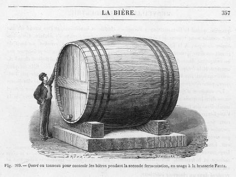 Beer Barrel at Fanta--Stretched Canvas Print