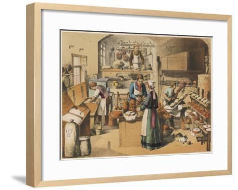 Busy French Bakery--Framed Art Print