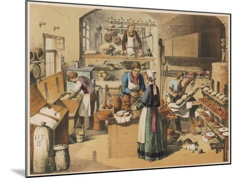 Busy French Bakery--Mounted Giclee Print