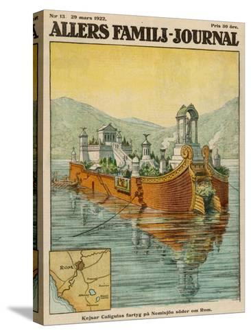 Caligula's Floating Palace on Lake Nemi, Near Rome--Stretched Canvas Print