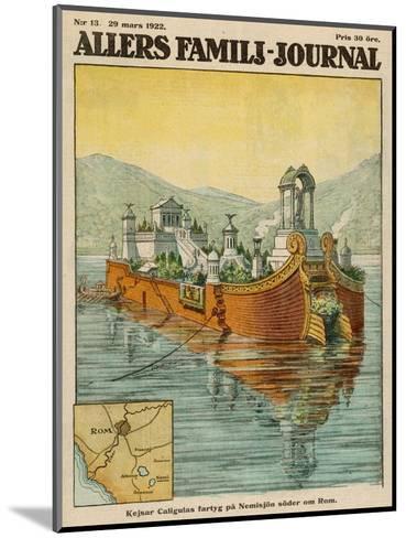 Caligula's Floating Palace on Lake Nemi, Near Rome--Mounted Giclee Print