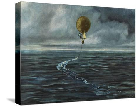 Andree's Balloon 'L'Aigle' over the Arctic Sea--Stretched Canvas Print
