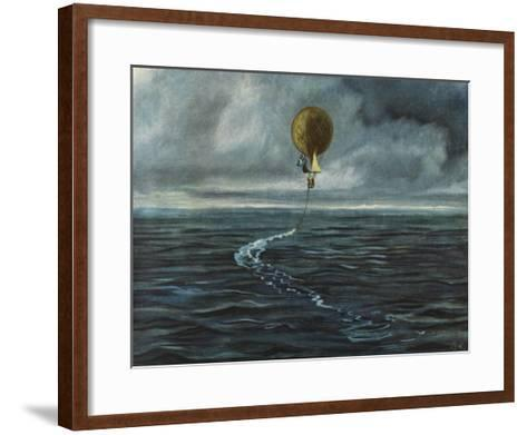 Andree's Balloon 'L'Aigle' over the Arctic Sea--Framed Art Print