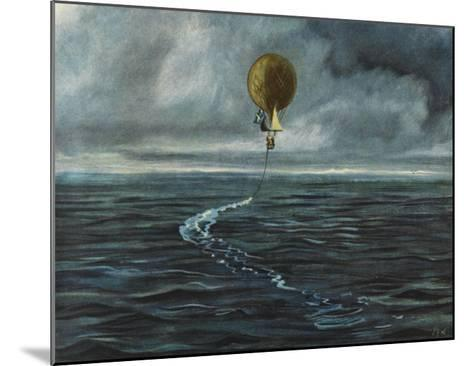 Andree's Balloon 'L'Aigle' over the Arctic Sea--Mounted Giclee Print