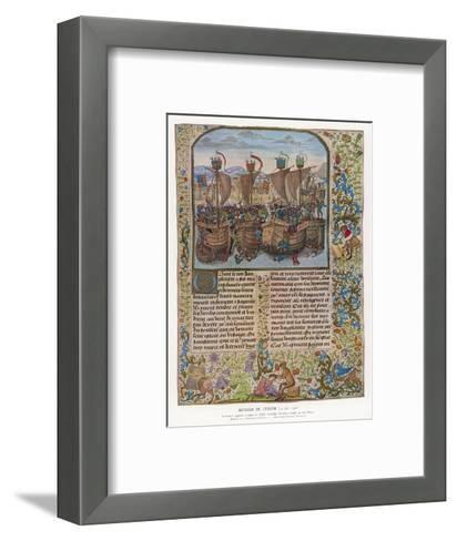 Battle of Sluys--Framed Art Print