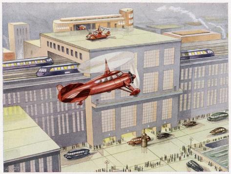 Autogyro Landing Pad--Stretched Canvas Print