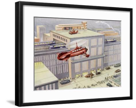 Autogyro Landing Pad--Framed Art Print