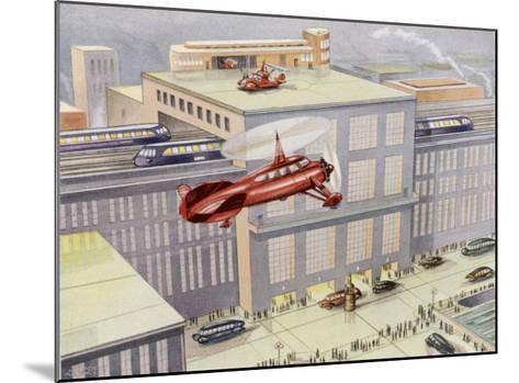 Autogyro Landing Pad--Mounted Giclee Print