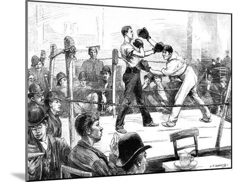 Boxing Match at a Men's Club, London, 1889--Mounted Giclee Print