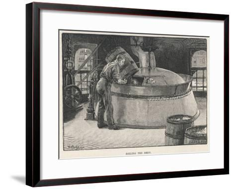 Boiling the Beer in an American Brewery--Framed Art Print