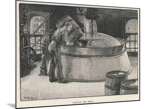 Boiling the Beer in an American Brewery--Mounted Giclee Print