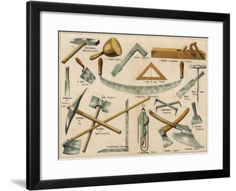 Builder's Tools 1875--Framed Art Print