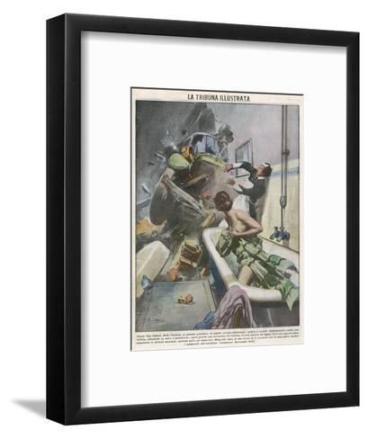 Bathtime Disturbed 1935--Framed Art Print