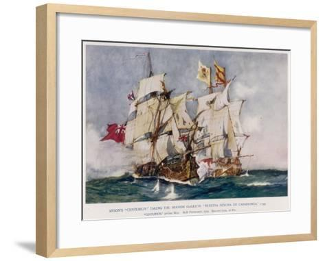 Anson's Naval Victory--Framed Art Print
