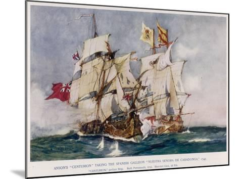 Anson's Naval Victory--Mounted Giclee Print