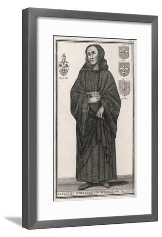 Cluniac Monk of Melton Mowbray, England, with His Cowl--Framed Art Print
