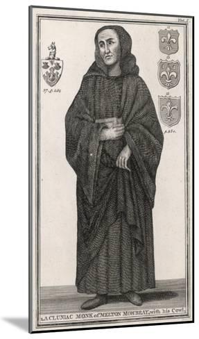 Cluniac Monk of Melton Mowbray, England, with His Cowl--Mounted Giclee Print
