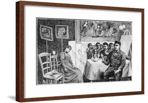 Charcot Gives a Demonstration at La Salpetriere, Paris--Framed Art Print