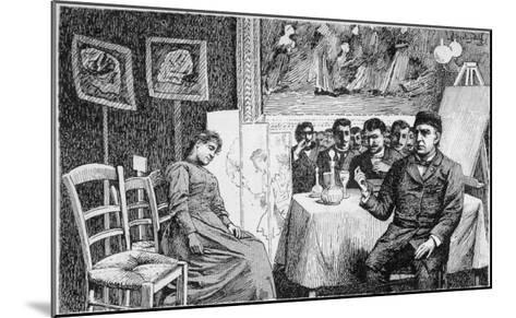 Charcot Gives a Demonstration at La Salpetriere, Paris--Mounted Giclee Print
