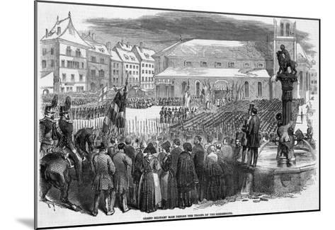 Catholic Troops of the Sonderbund Celebrate Mass before Going into Battle--Mounted Giclee Print