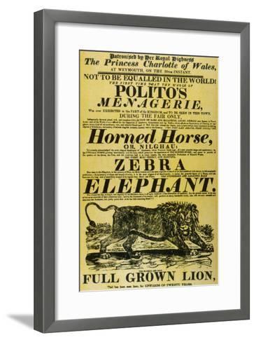 Circus Poster--Framed Art Print