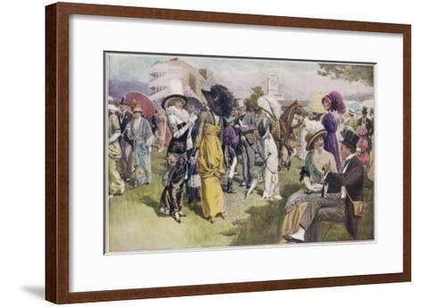 Cup Day at Ascot, the Smartest Day in the Racing Season--Framed Art Print