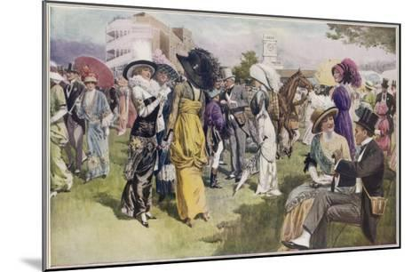 Cup Day at Ascot, the Smartest Day in the Racing Season--Mounted Giclee Print