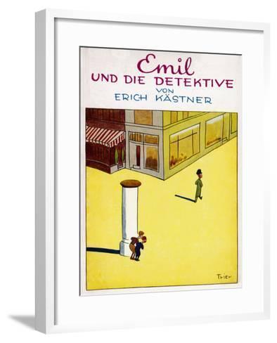 Cover Illustration of the Original Edition of Emil Und Die Detektive--Framed Art Print