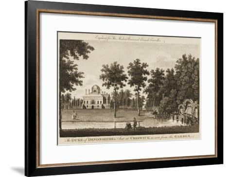 Chiswick House, the Seat of the Duke of Devonshire - View in the Gardens--Framed Art Print