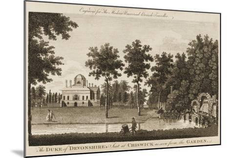 Chiswick House, the Seat of the Duke of Devonshire - View in the Gardens--Mounted Giclee Print