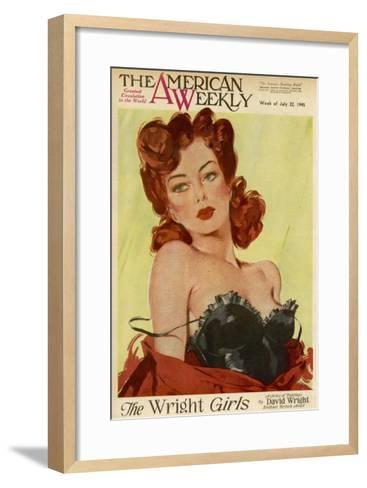 David Wright Pin-Up--Framed Art Print